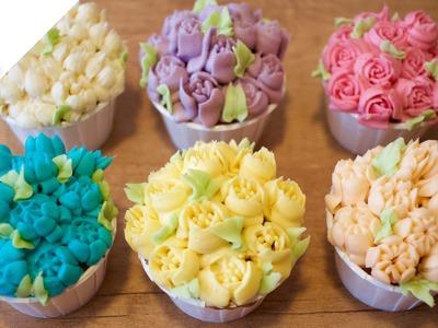 Cómo usar Boquillas Rusas para decorar Cupcakes