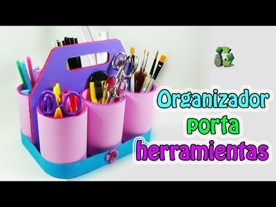 197. Manualidades: Organizador porta herramientas (Reciclaje) Ecobrisa