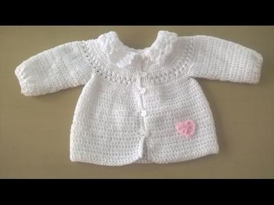 Chaqueta de bebé con canesu redondo