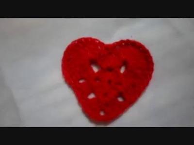 Corazón Tejido dia del Amor