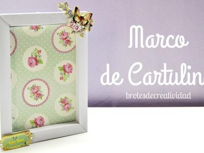 DIY: Portarretratos de cartulina.cartón para foto 10x15cm - Brotes de Creatividad