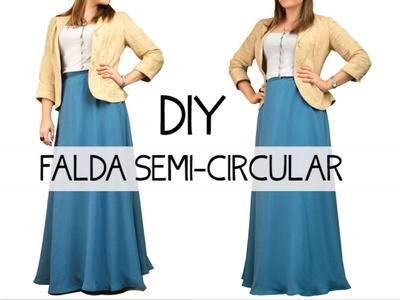 Falda semi-circular DIY