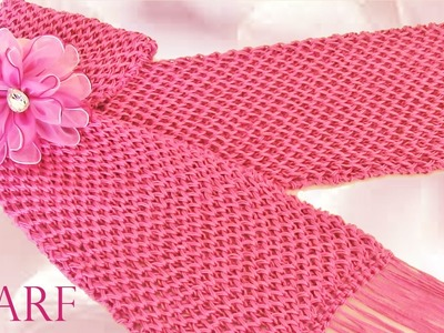 Haz crea  diseña tu ropa teje una linda bufanda Make creates designs clothes cute knitting scarf
