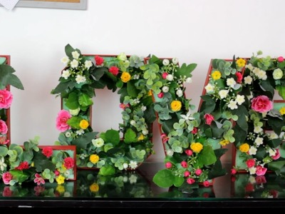 LETRAS DECORATIVAS EN 3D SUPER FACILES PARA CUMPLEAÑOS O BABY SHOWER