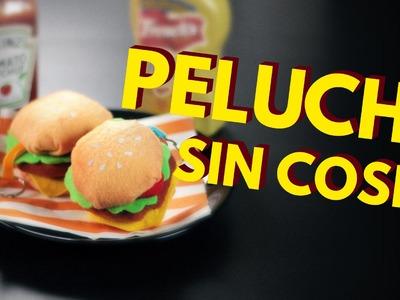 Manualidades paso a paso: cómo hacer un peluche de hamburguesa SIN COSER