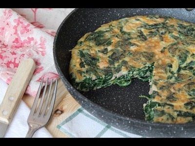 Tortilla de espinacas, atún y queso sin lactosa | súper jugosa
