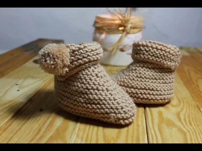 Botas de bebé a tricot paso a paso I cucaditasdesaluta