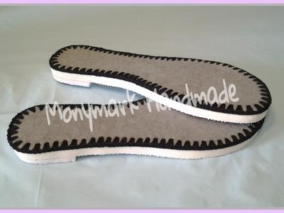 Cómo ensamblar el set de suelas para calzado tejido