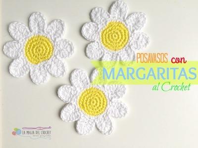 Como hacer posavasos con Margaritas al Crochet