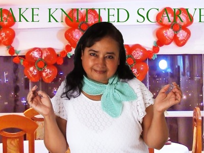 Como tejer fácil y rápido una bufanda de cuello corto - Make accessories beautiful knitted scarves