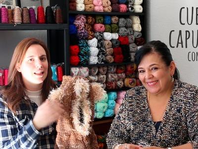 Tutorial Cuello con Capucha tejido junto a Laura Cepeda (Parte 2)