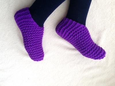 Tutorial para tejer unas pantuflas toe-up [tejer con telar]