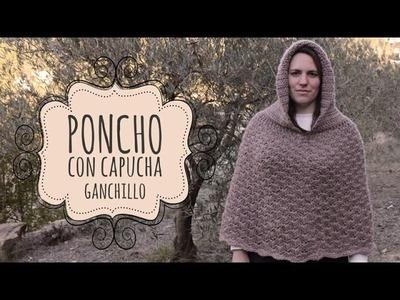 Tutorial Poncho con Capucha Fácil y Rápido Ganchillo | Crochet