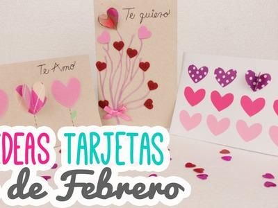 3 Ideas para Regalar el 14 de Febrero | 3 Tarjetas Fáciles! | Manualidades San Valentín |Catwalk