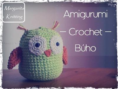 Amigurumi Búho a crochet (zurdo)