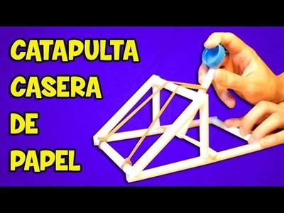 Catapulta Casera | Armas de papel