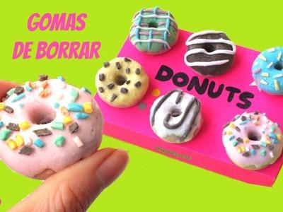 Cómo hacer GOMAS DE BORRAR o BORRADORES caseros - Donuts o Donas - Vuelta al cole