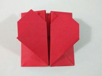 Como hacer una carta caja corazón de papel facil