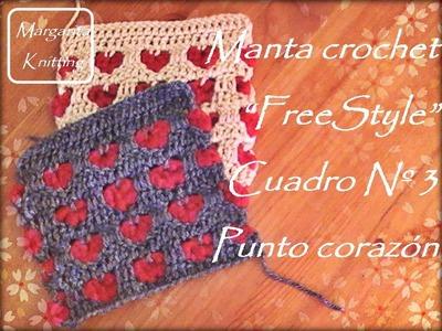 Manta FreeStyle cuadro 3: punto corazón (zurdo)