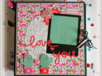 "Mini Album ""Love You"" San Valentin.DYI SCRAPTOOLS"