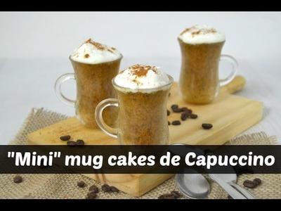 Mini mug cakes de capuccino