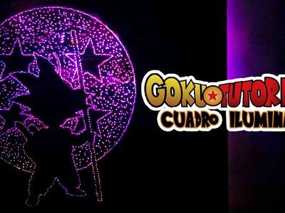 NERDiy: ¡¡¡HAZ UN CUADRO ILUMINADO DE GOKU!!!