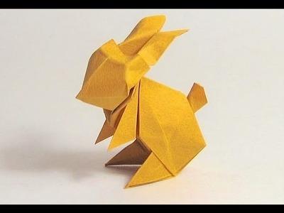 Origami Conejo Papiroflexia -  Cómo hacer un conejo de origami muy facil