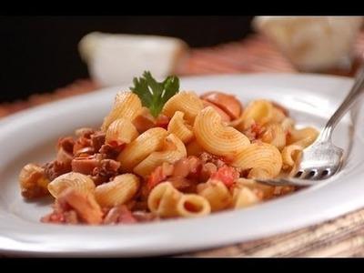 Pasta con chili - Chili con carne pasta- Recetas de cocina italaiana