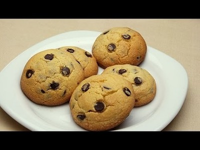 Receta fácil de galletas de mantequilla con chips de chocolate