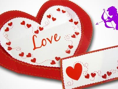 Tarjeta sobre para San Valentín. Envelope card Valentine´s Day