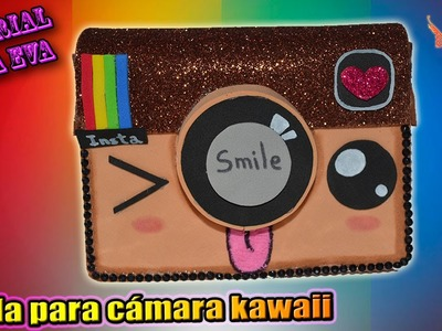 ♥ Tutorial: Funda para cámaras de Instagram Kawaii de Goma Eva (Foamy) ♥