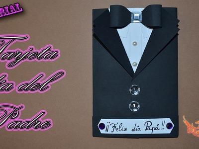 ♥ Tutorial: Tarjeta Día del Padre de cartulina (MUY FÁCIL)♥
