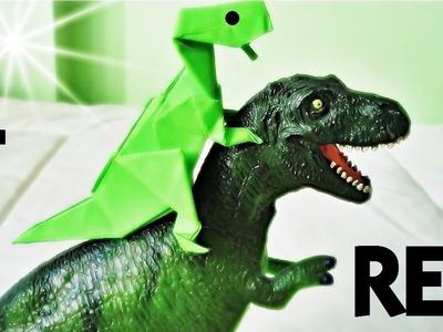Tyrannosaurus (T - Rex) - Origami - Español