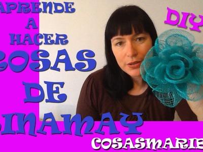 APRENDE COMO  HACER ROSAS DE SINAMAY .