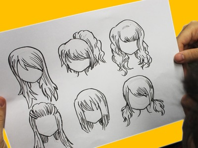 COMO DIBUJAR CABELLO ANIME. COMO DIBUJAR CABELLO MANGA - How to draw hair