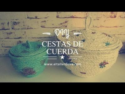 Cómo hacer cestas de cuerda y decoupage
