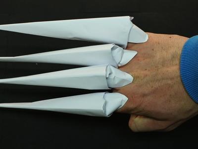 Como hacer Garras con Hojas de Papel - (Garras Origami)