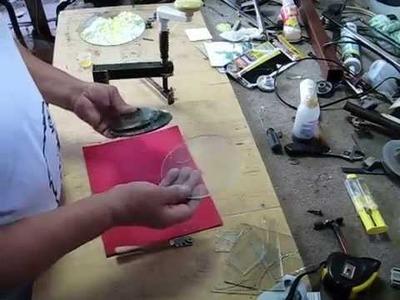 Como hacer un cortavidrio para circulos a la mexicana