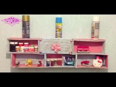 DIY: Crea una REPISA con cajas de zapatos para organizar tu cuarto - Antifacita :3