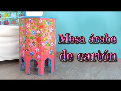 Manualidades: como hacer una mesa árabe con cartón, muebles de cartón - Isa ❤️