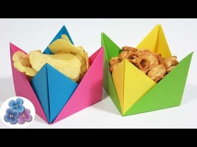 Origami Fácil: Manualidades Utiles Platos Desechables de Papel.Cuencos de papel Pintura Facil