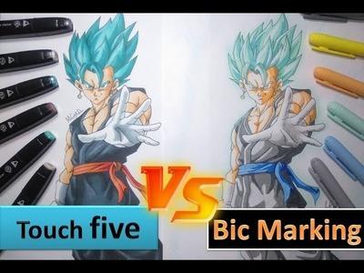 Todos mis materiales para dibujar y Marcadores TOUCHFIVE vs BIC MARKING