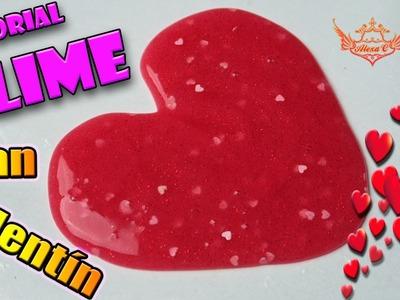 ♥ Tutorial: Slime casero sin bórax de San Valentín ♥