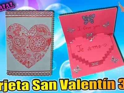 ♥ Tutorial: Tarjeta San Valentín en 3D de Cartulina ♥