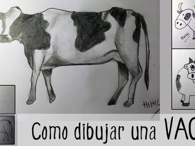 Cómo dibujar una vaca: tres modelos diferentes