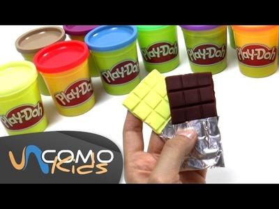 Cómo hacer chocolatinas con plastilina