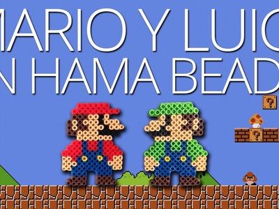 Cómo hacer con Hama Beads a Mario y a Luigi en versión retro (Super Mario Bros.)