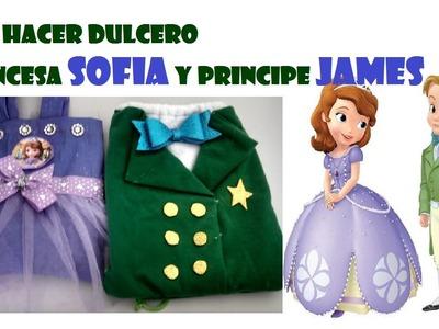 COMO HACER DULCEROS DE PRINCESA SOFIA Y PRINCIPE JAMES