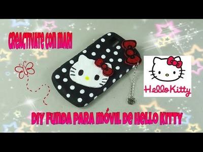 Como hacer fundas de silicona para celular o móvil hello kitty