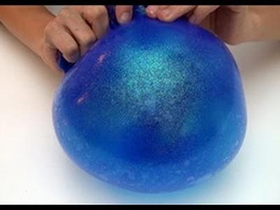 ¿Como hacer galaxy slime (moco de delfin) inflable?